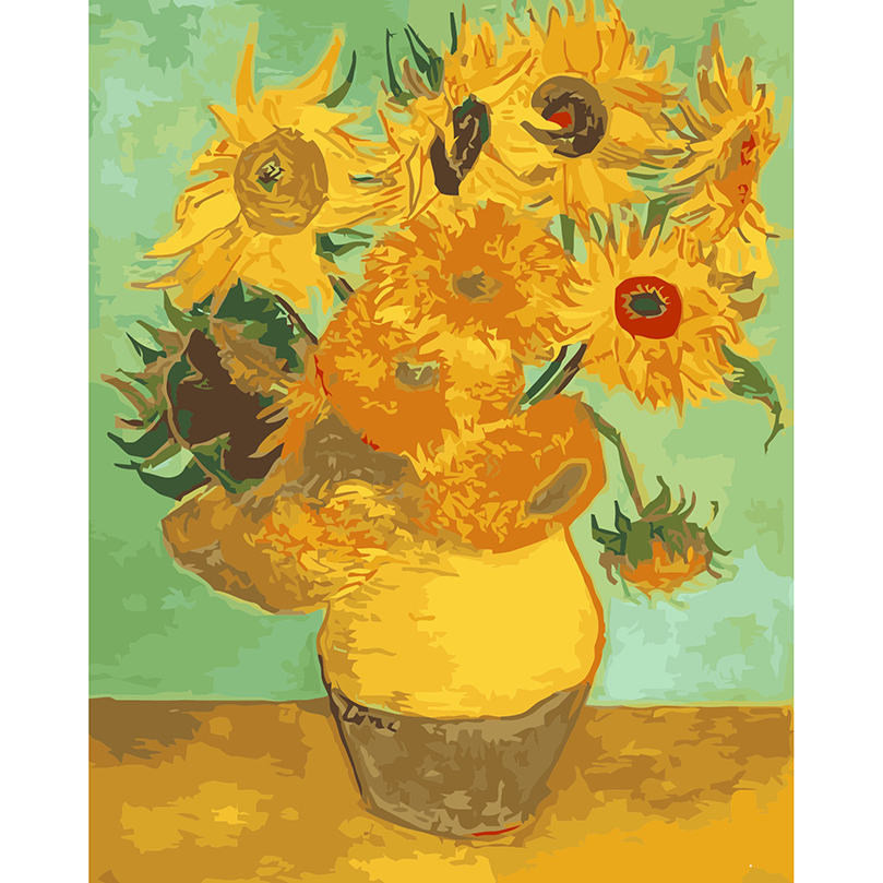 809x809 Famous Abstract Oil Painting On Canvas Vincent Van Gogh Sunflower