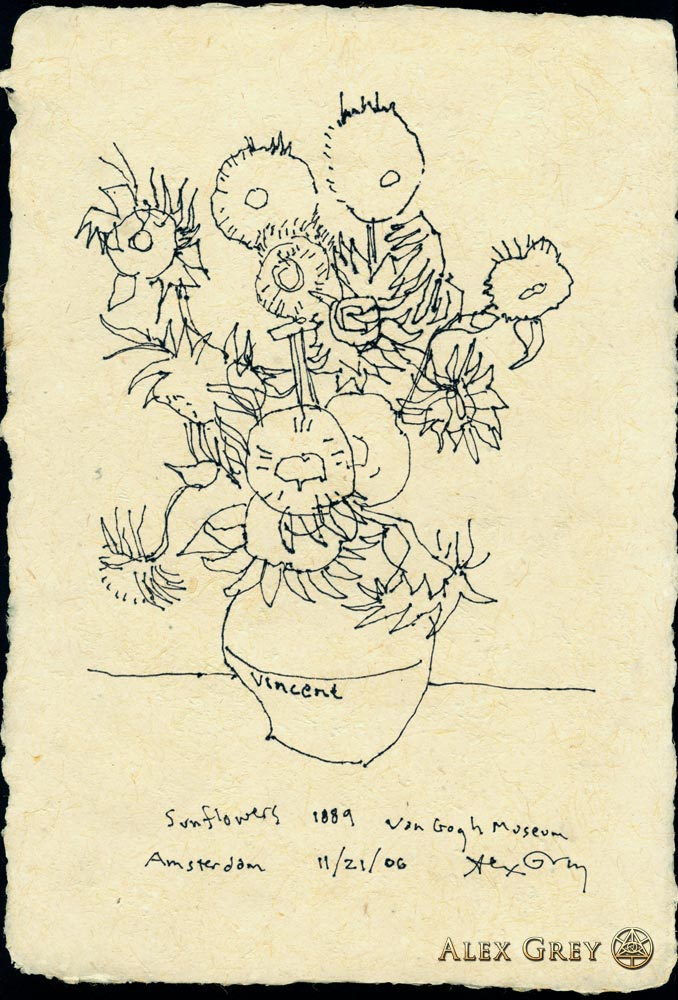 678x1000 Study Of Van Gogh's Sunflowers