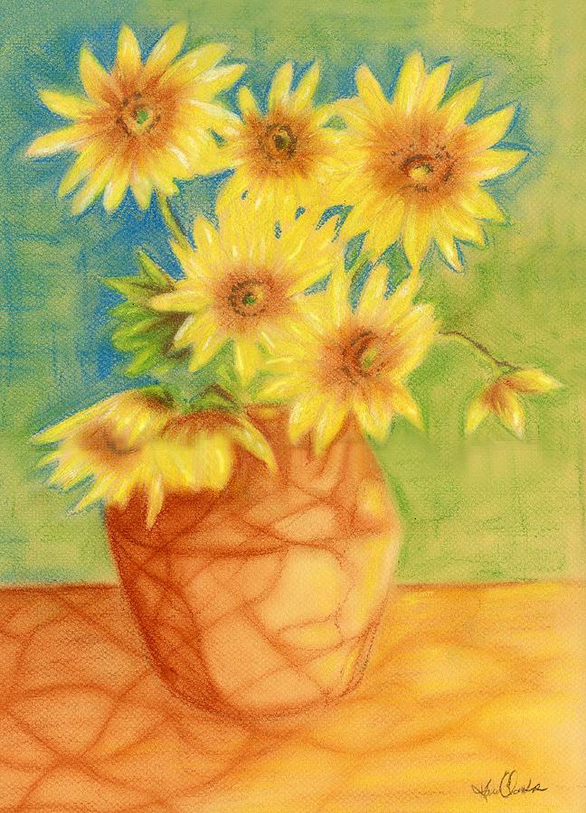 648x900 Sunflowers Ala Van Gogh Drawing By Karen Clark