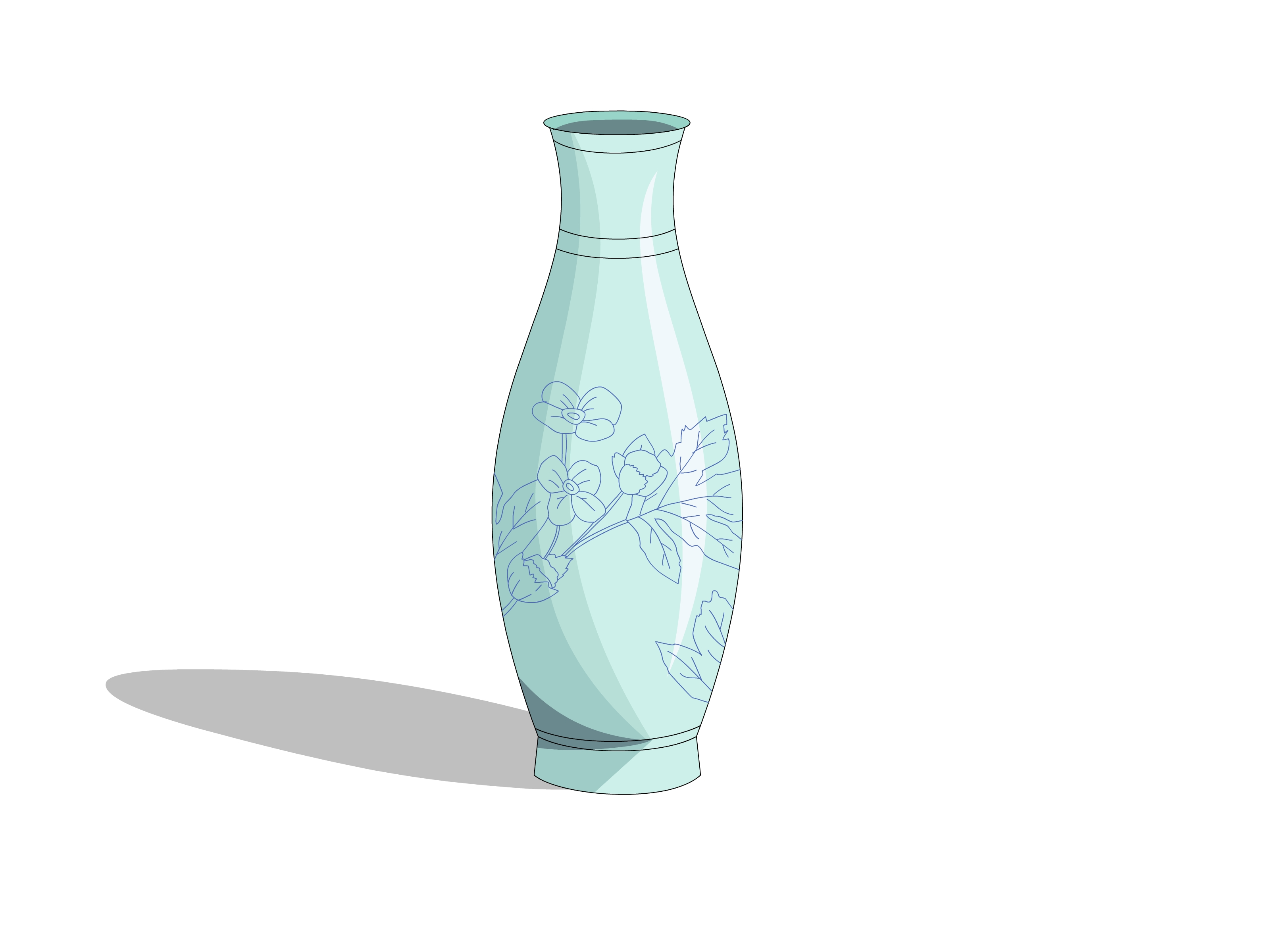 3200x2400 Flower Vase Drawing Step Draw Version