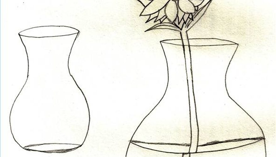 877x500 How To Draw Flowers In A Vase Our Pastimes