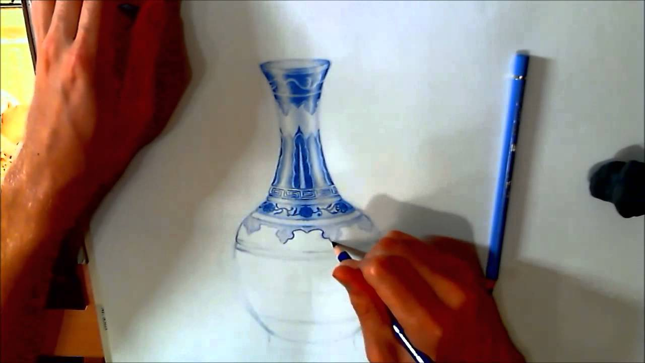 1280x720 How To Draw A Ming Vase (Speed Drawing)