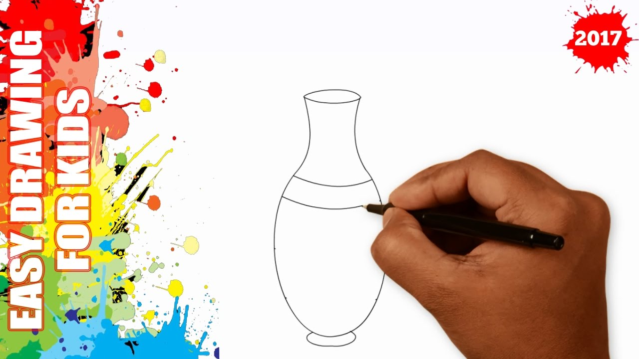 1280x720 How To Draw A Vase Easy And Simple For Kids In 50s