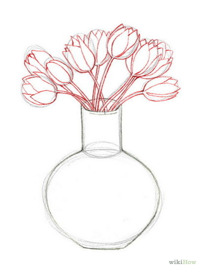 408x549 408px Outline Flowers Step 5.jpg Drawing Flowers