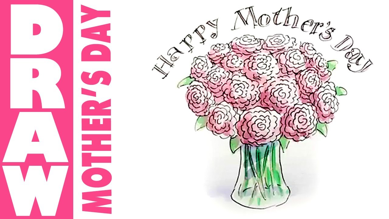 1280x720 How To Draw A Vase Of Flowers For Mothers Day