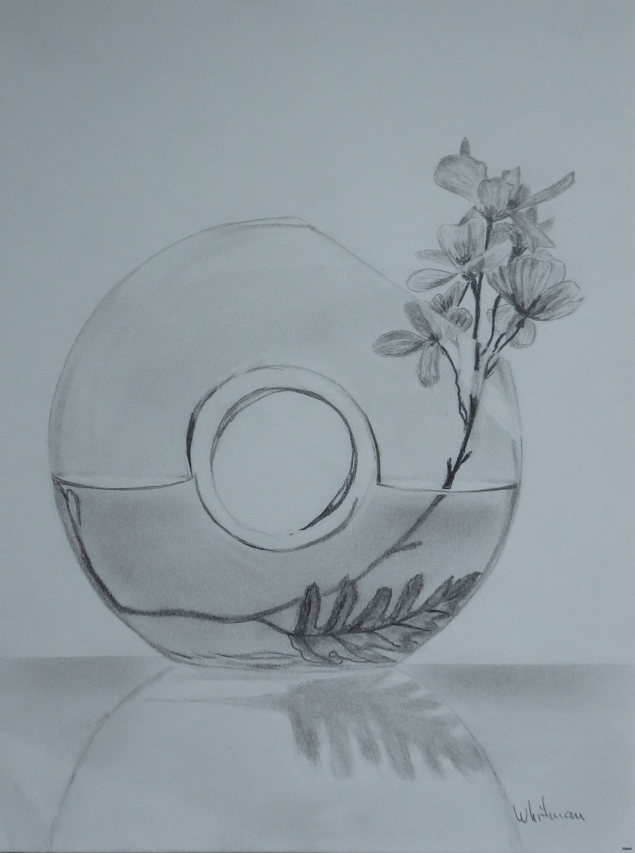2057x2761 Drawn Vase Pencil Drawing 8h Vases Sketch Of Pin Still Life Flower