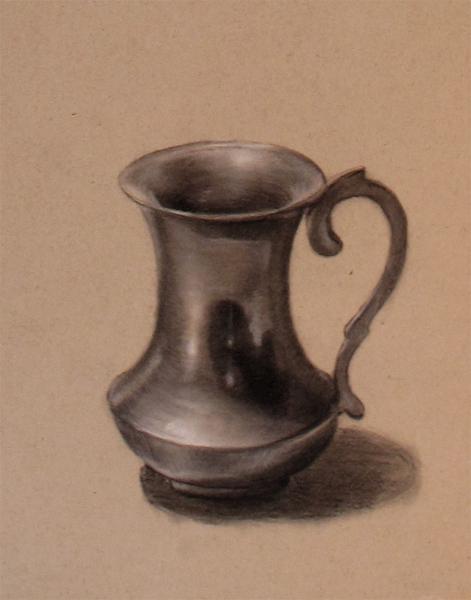 471x600 drawn vase still life