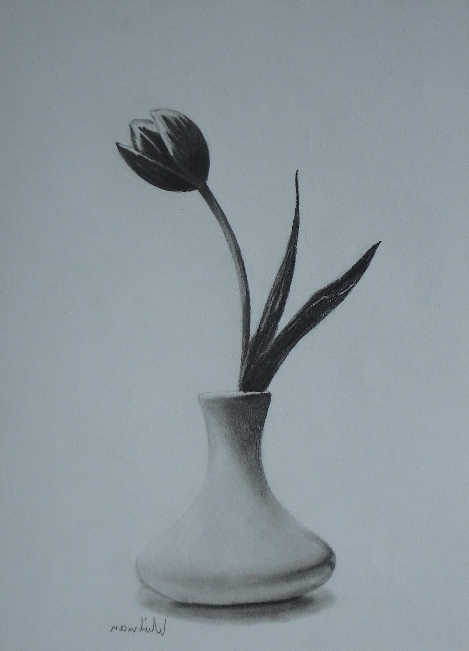 1929x2673 Flower Vase Pencil Sketch Class= Vase Flower Vases