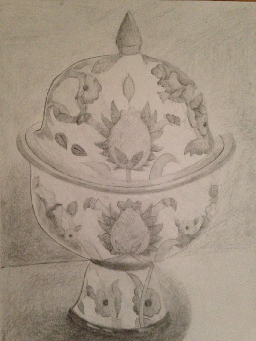 852x1136 Vase Pencil Drawing Drawings Drawings