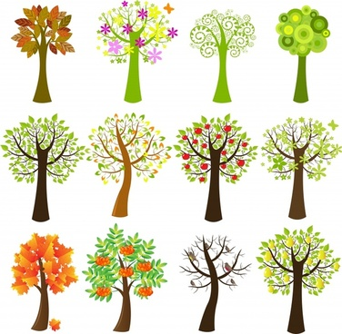 376x368 Cute Tree Drawing Free Vector Download (97,365 Free Vector)