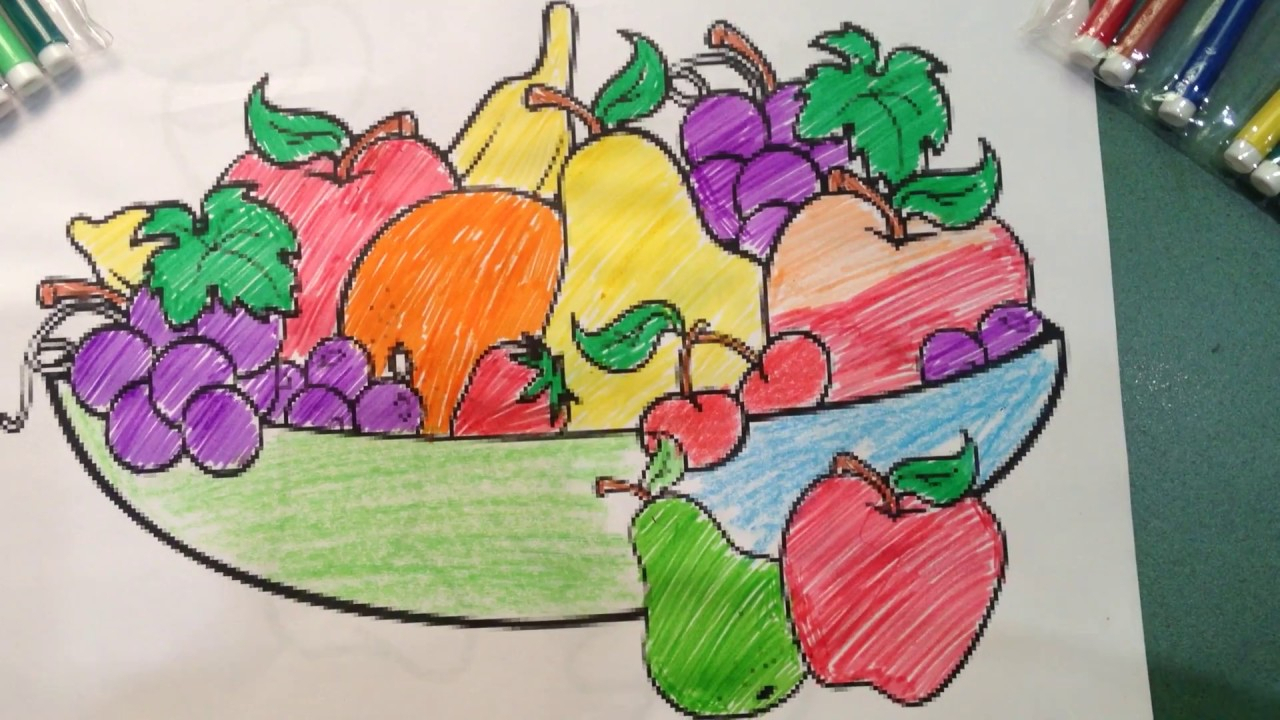 1280x720 A Vegetable Basket Drawing Still Life A Vegetable Basket Drawing