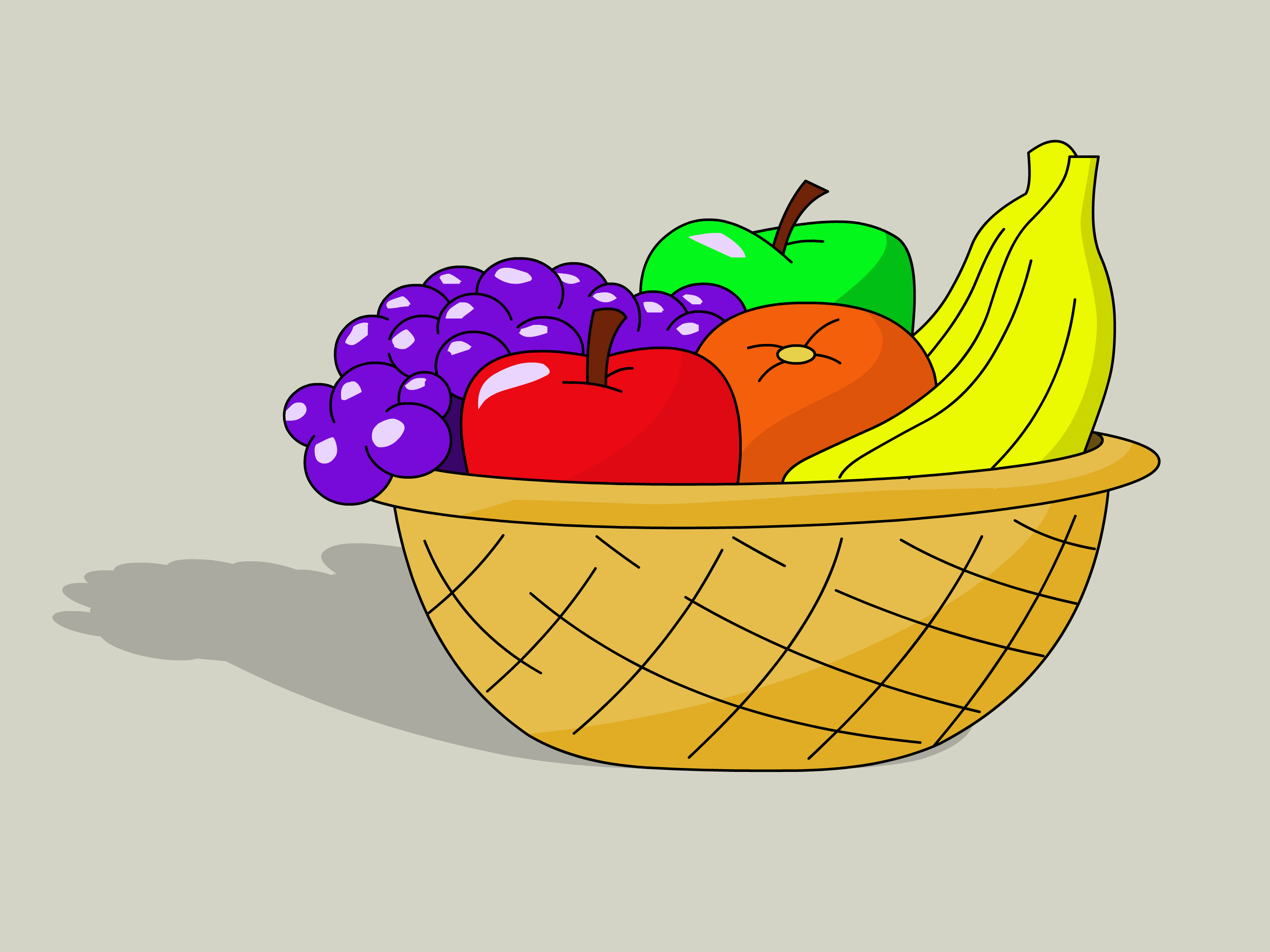 3200x2400 How To Draw A Basket Of Fruit 8 Steps (With Pictures)