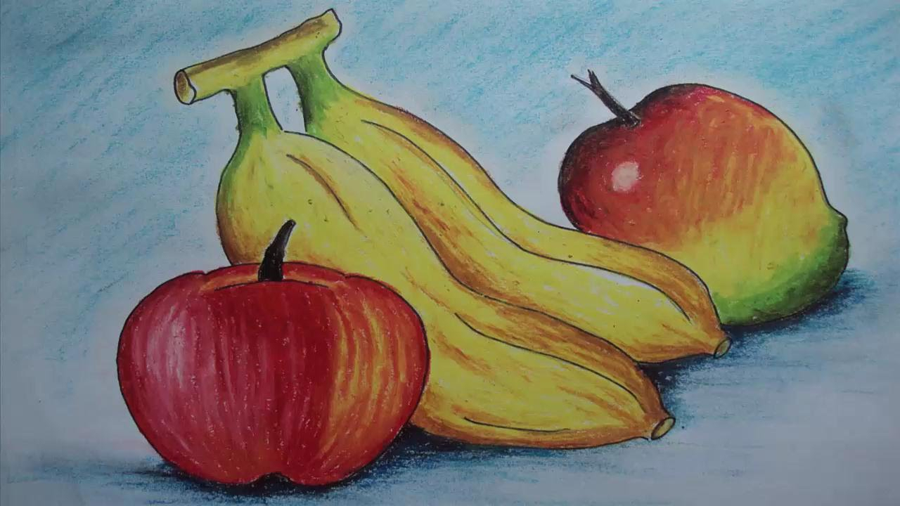 1280x720 Still Life Pastel Drawings A Vegetable Basket Drawing Still Life