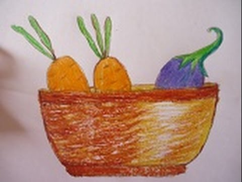 480x360 Easy Drawing For Kids ,vegetables Basket Drawing In Simple Steps