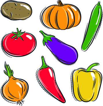 358x368 children drawing vegetables free vector download 90961 free