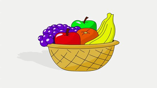 550x309 How To Draw A Basket Of Fruit 8 Steps (With Pictures)