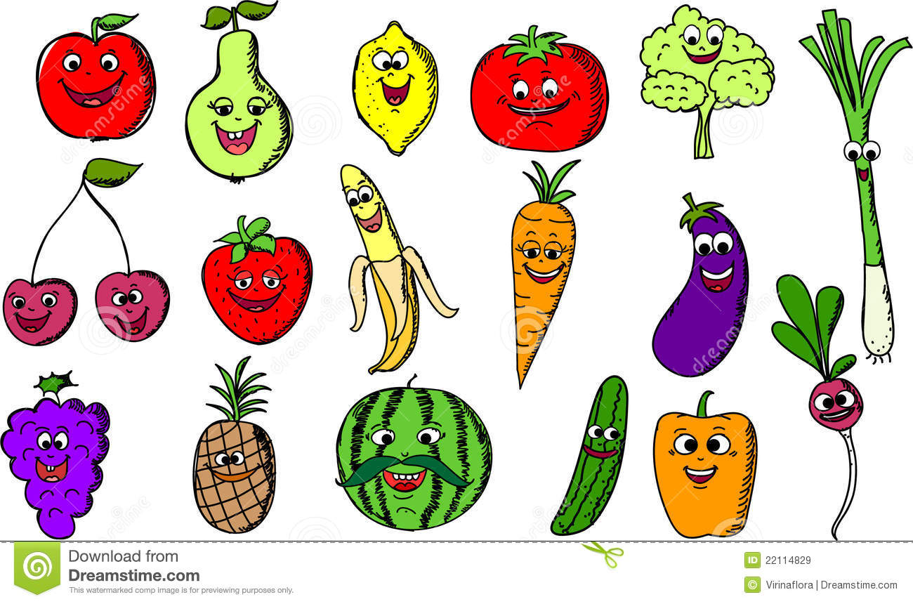 Vegetables Cartoon Drawing At Getdrawings Com Free For