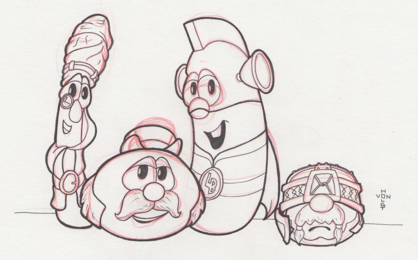 Veggie Tales Drawing at GetDrawings.com   Free for personal use ...