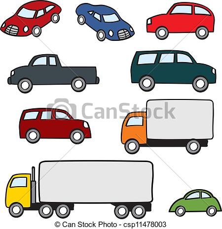 450x465 Assorted Cartoon Vehicles. An Assortment Various Types