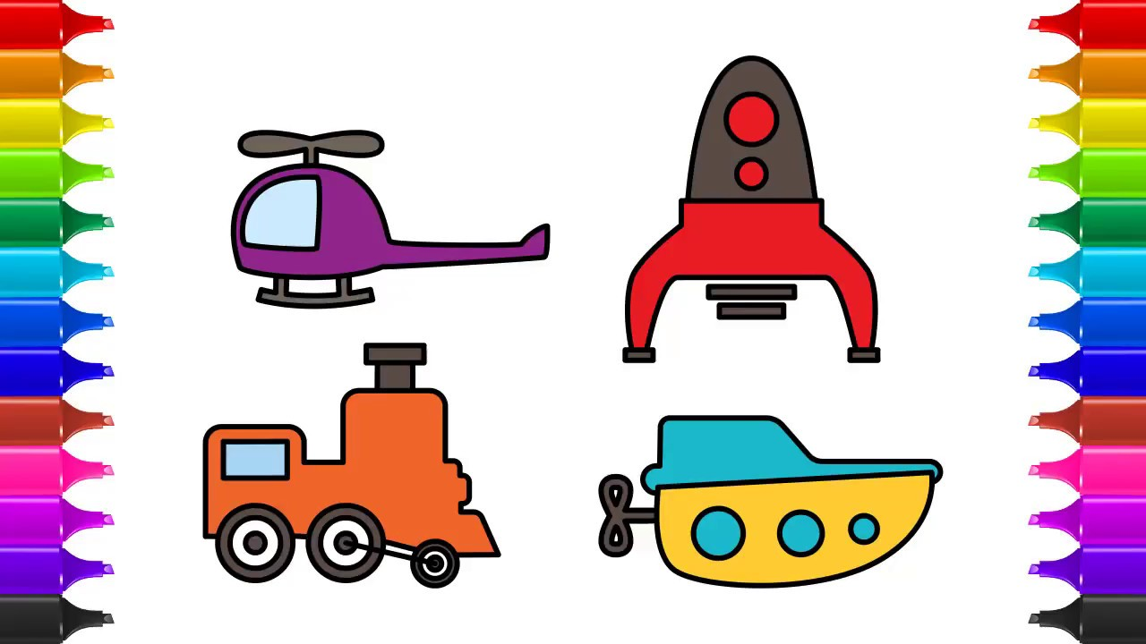 1280x720 How To Draw Toys Vehicles Amp Coloring Toys Drawing Vehicles