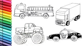 320x180 Monster Truck Drawing And Coloring Vehicles