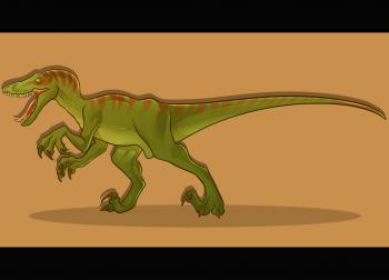 350x252 How To Draw How To Draw A Velociraptor, Velociraptor