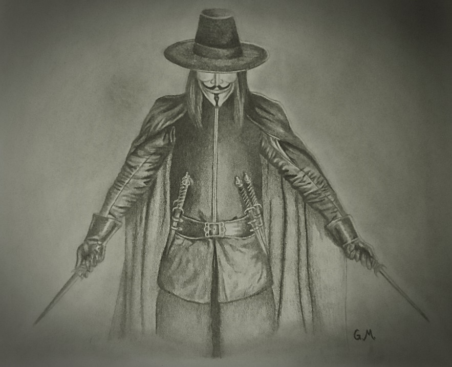 883x717 Drawing Of V From V For Vendetta One Of The Most Badass Fiction