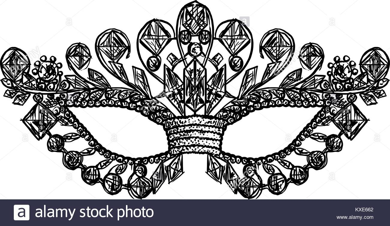 Venetian Mask Drawing at GetDrawings.com   Free for personal use ...