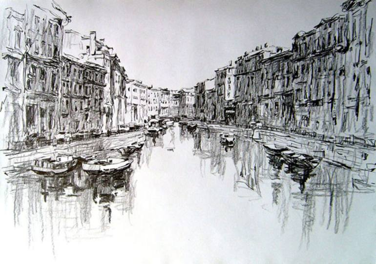 770x541 Saatchi Art Russian Venice Drawing By Dmitriy Vladimirovich