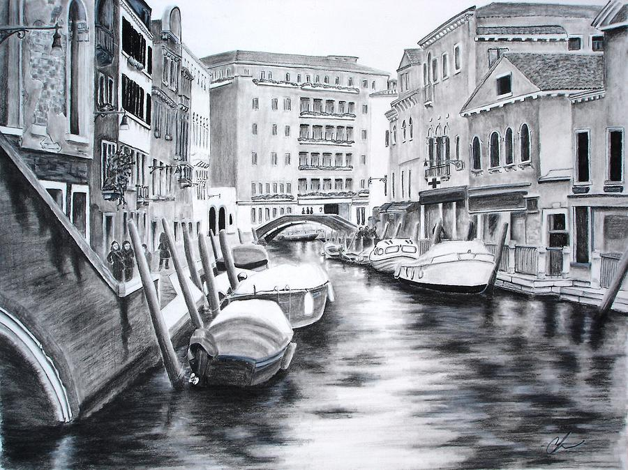 900x674 Venice City Of Love Drawing By Chris Fraser