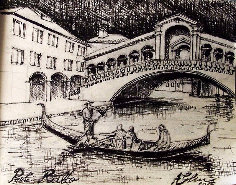 800x629 Venice Draw Art Prints By Andragheorghe Redbubble