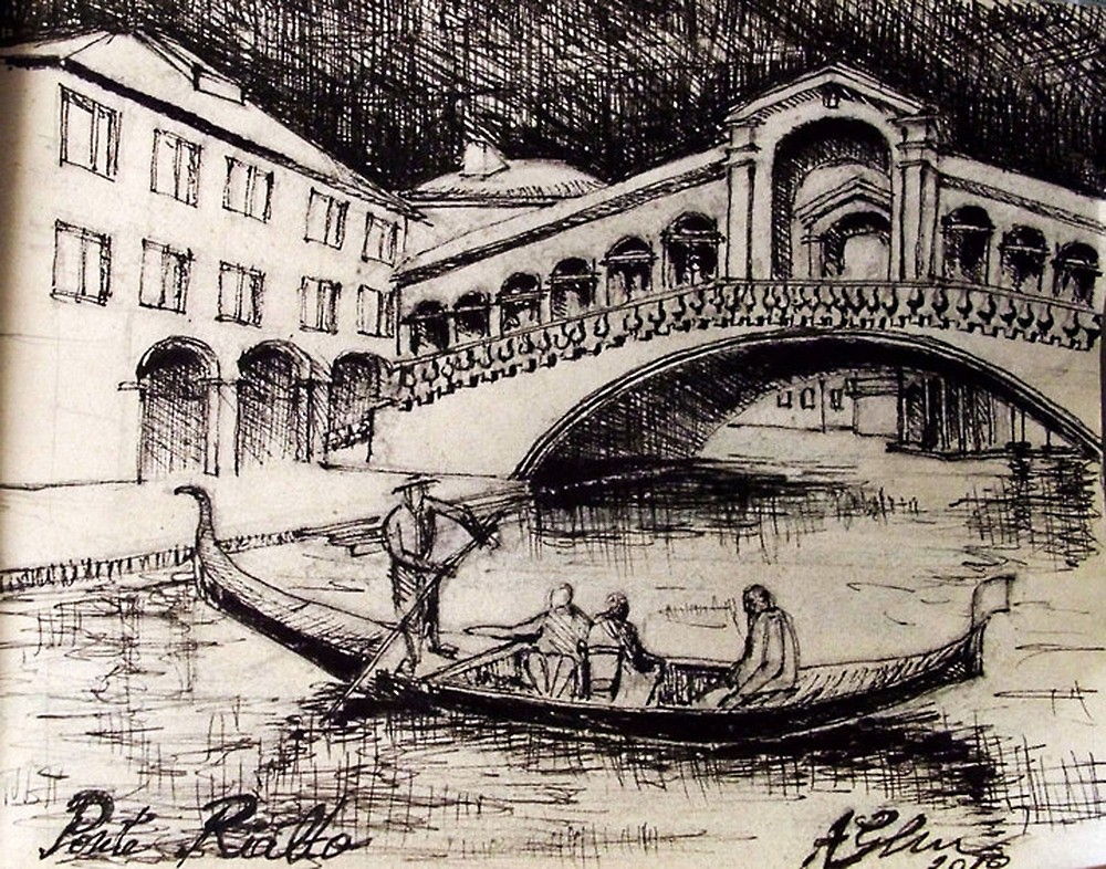 1000x786 Venice Draw By Andragheorghe Redbubble