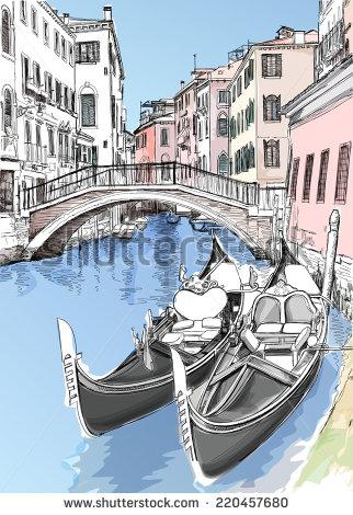 322x470 2 Gondolas. Ponte Del Mondo Novo, Campo S.maria Formosa. Venice