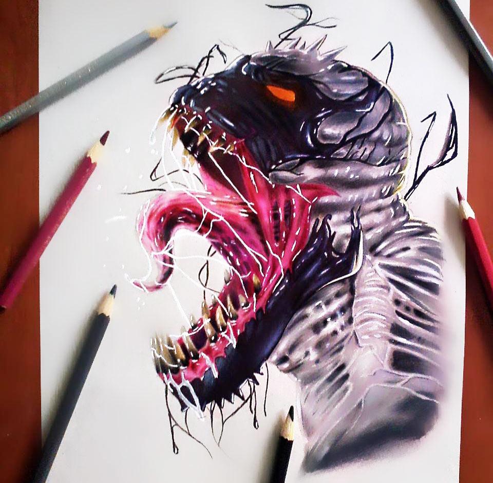 Venom Drawing At GetDrawings