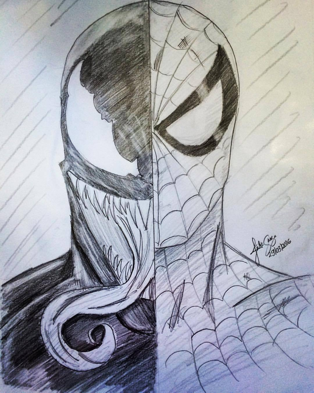 Venom Spiderman Drawing At Getdrawings Com Free For Personal Use