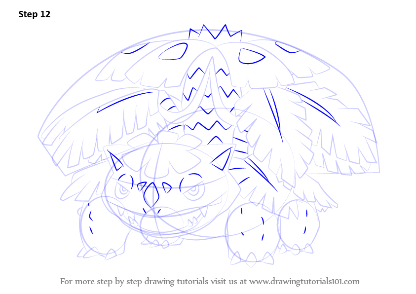 843x596 Learn How To Draw Mega Venusaur From Pokemon (Pokemon) Step By
