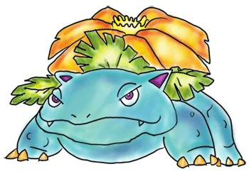 350x245 Step By Step Drawing Lesson How To Draw Venusaur From Pokemon