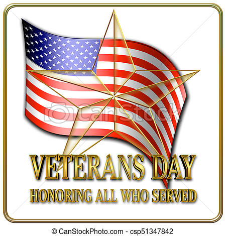 450x470 Veterans Day, 3d, Honoring All Who Served, American Holiday