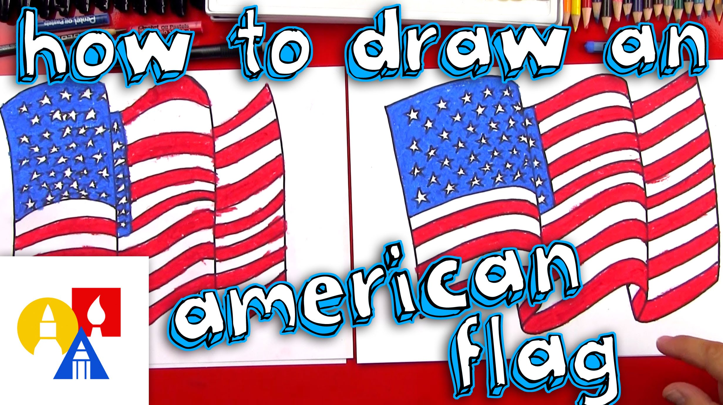 2463x1381 How To Draw The American Flag