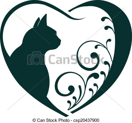 450x419 Veterinarian Heart Cat Love. Abstraction Of Animal Care This