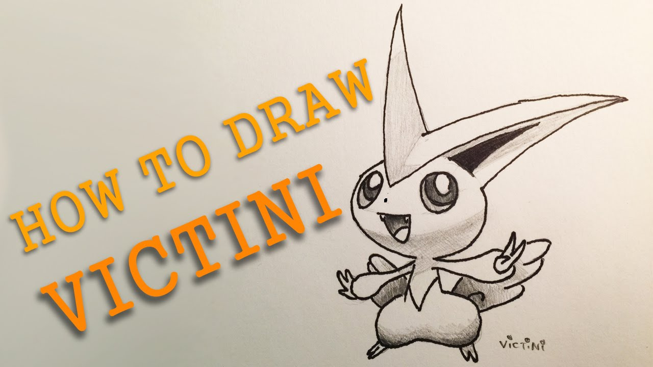 Victini Drawing At Getdrawingscom Free For Personal Use Victini