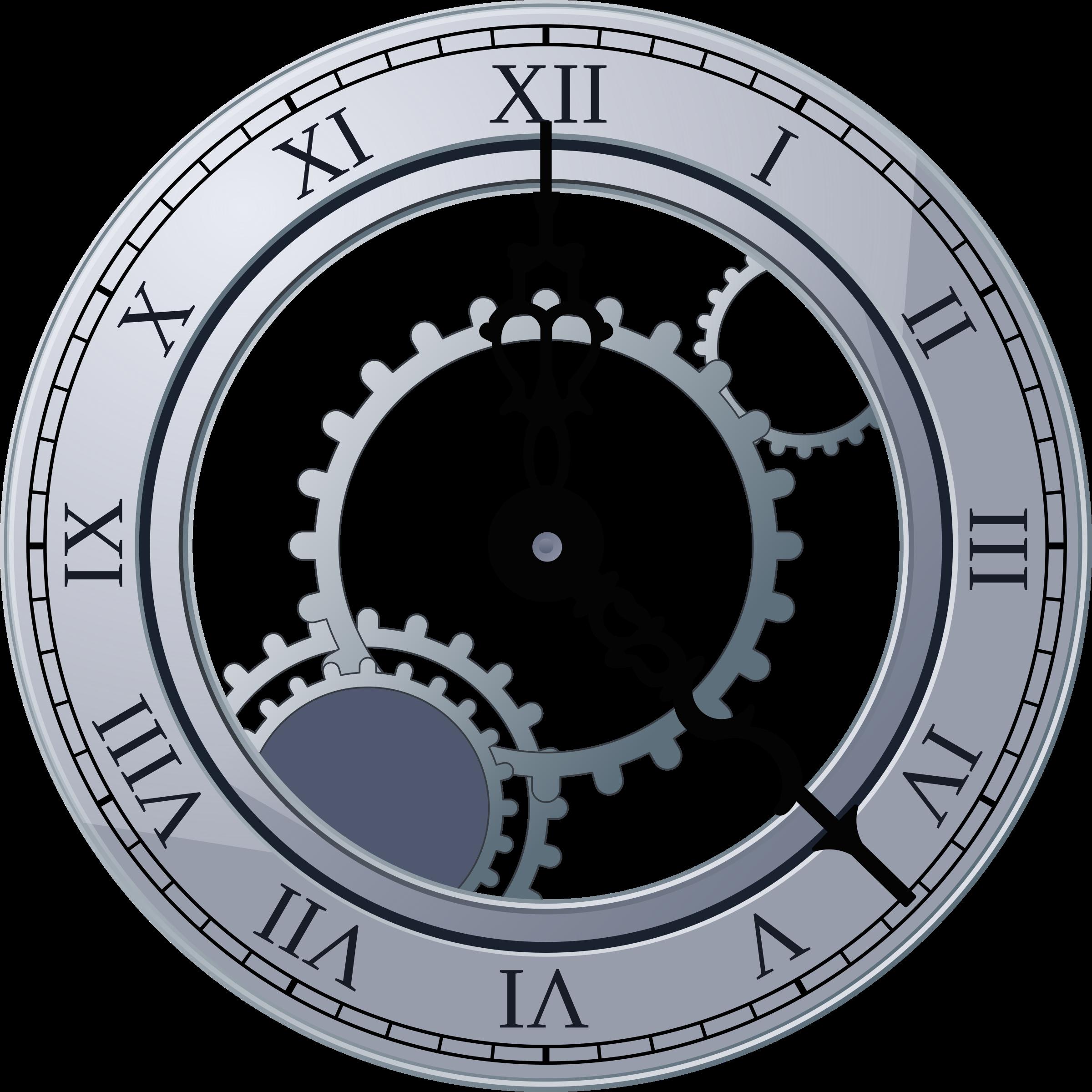 2400x2400 Antique Grandfather Clock Tattoo