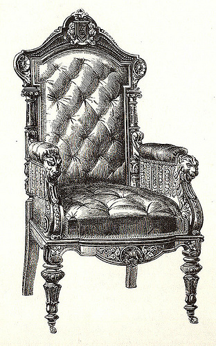 312x500 Artzeeccc Vintage Victorian Black And White Ink Drawing Of Chair