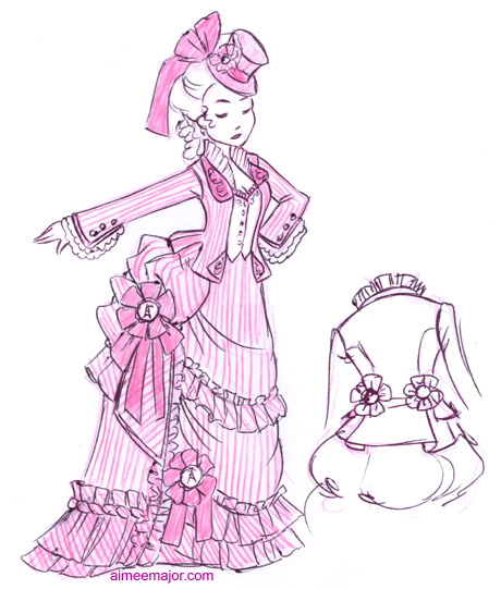 460x541 Victorian Dress Drawing Design Sketch Gifts From The Homestead