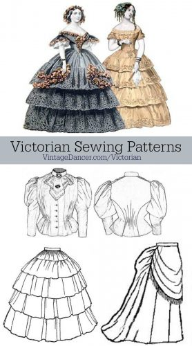 278x500 Victorian Sewing Patterns Dress, Blouse, Hat, Coat, Skirts