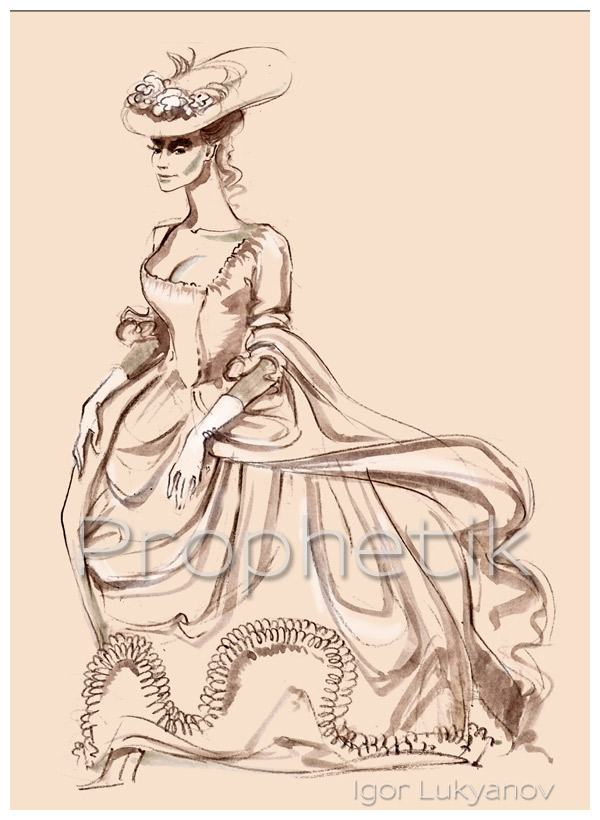 600x820 Victorian Clothing Fashion Illustrations By Igor Lukyanov