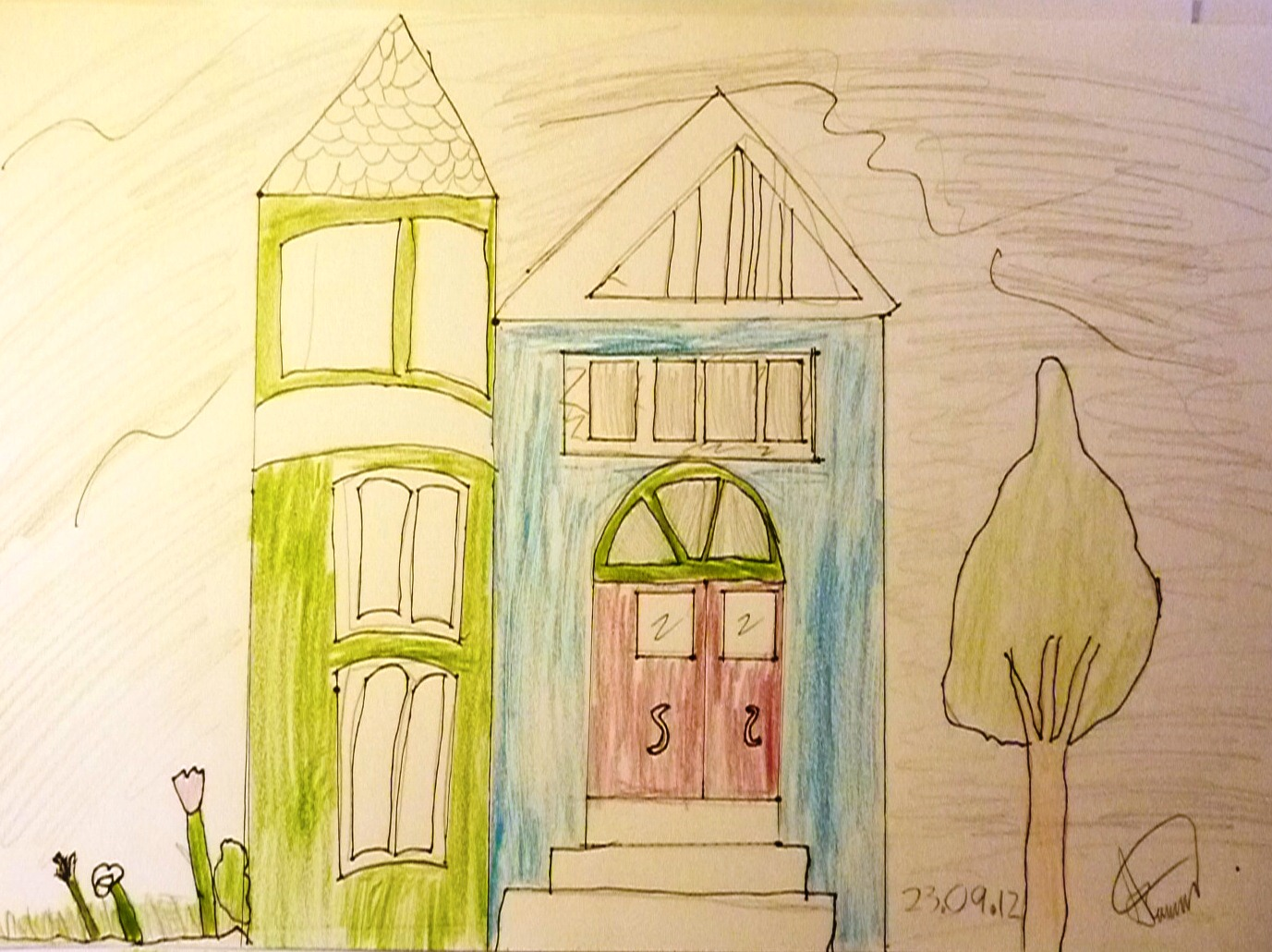 1377x1030 The Art Workshop Nz Drawing Victorian Houses
