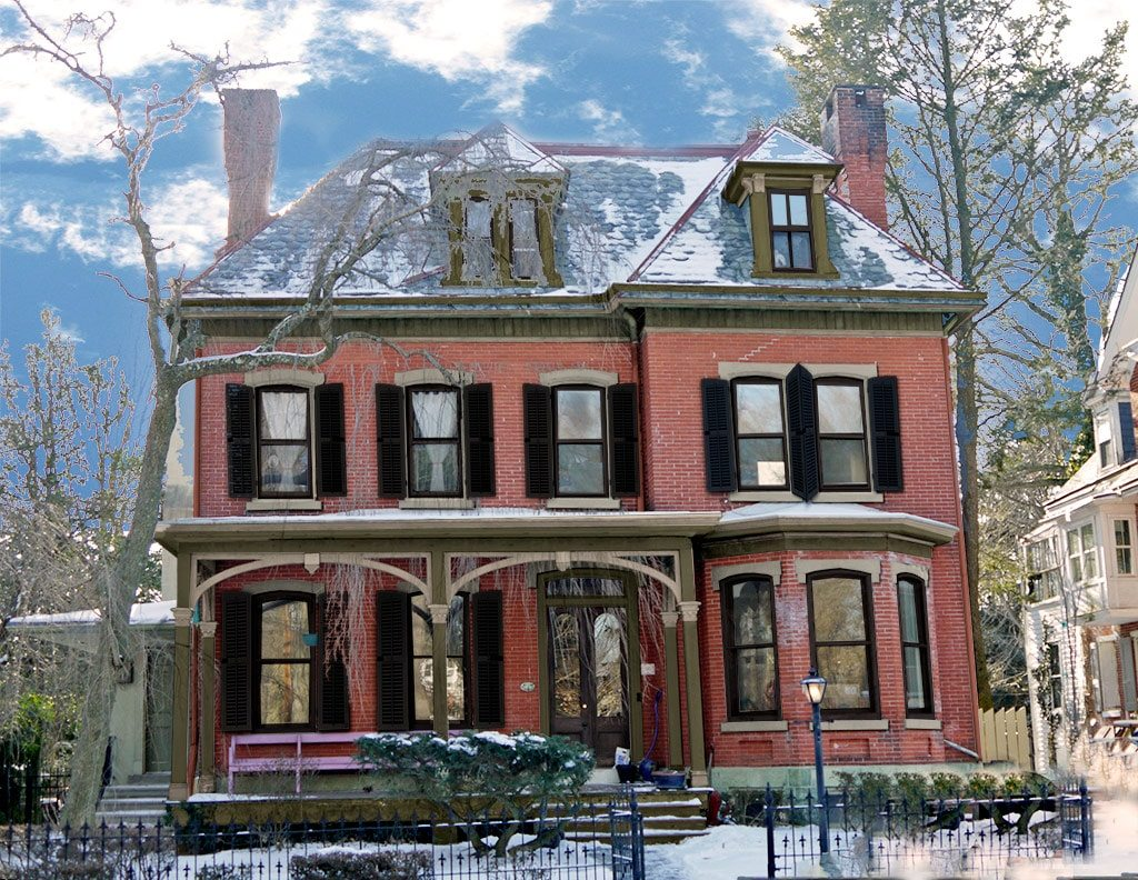 Victorian houses drawing at free for for Exterior house drawing