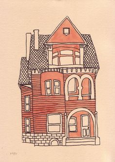 236x332 Victorian House By Gene Ploss On Etsy. Paintingdrawing Ideas