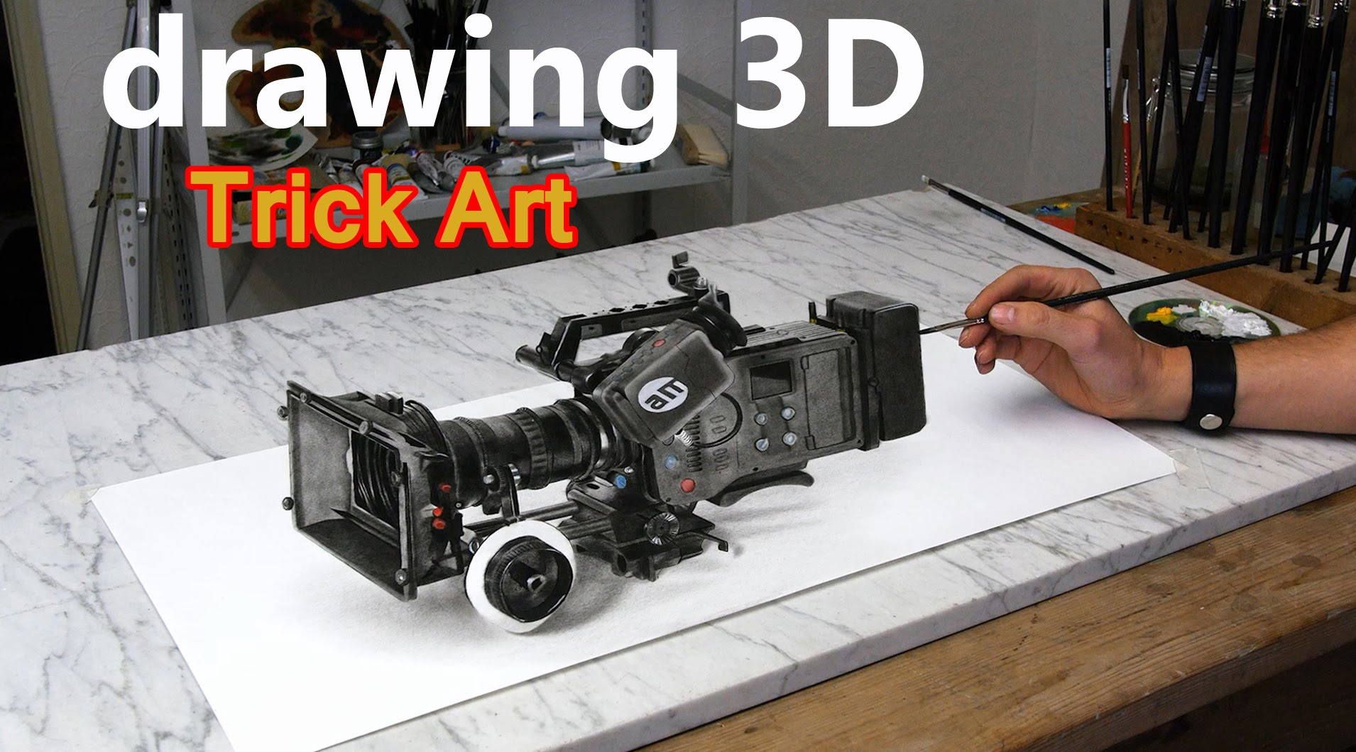 1910x1059 Speed Drawing 3d Video Camera (How To Paint) Dibujar Bien Paso